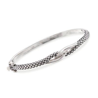 Andrea Candela Sterling Silver Twist Bangle Bracelet, , default