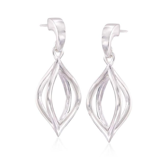 "Zina Sterling Silver ""Wired"" Pod Earrings, , default"