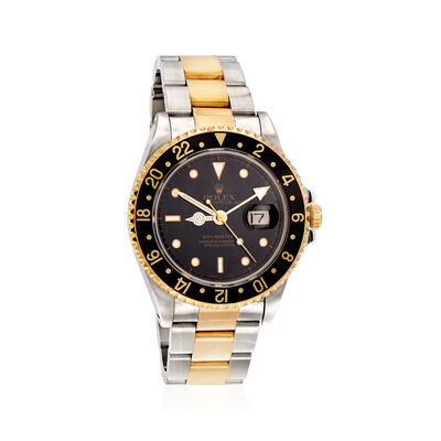 Pre-Owned Rolex Gmt-Master II Men's 40mm Automatic Stainless Steel Watch with 18kt Yellow Gold, , default