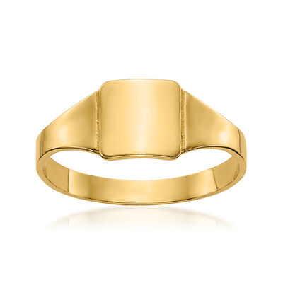 Child's 14kt Yellow Gold Square Signet Ring