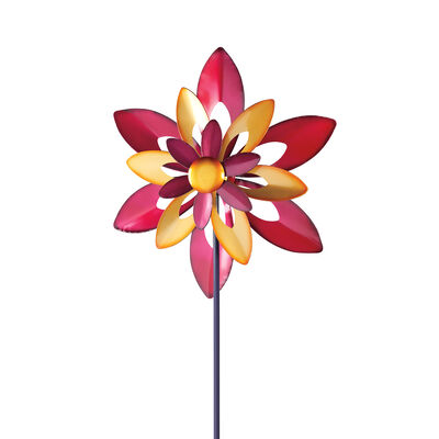 "Regal ""Starflower"" Outdoor Decorative Garden Wind Spinner, , default"