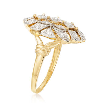 .10 ct. t.w. Diamond Ring in 14kt Yellow Gold