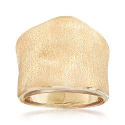 Italian 14kt Yellow Gold Free-Form Ring, , default