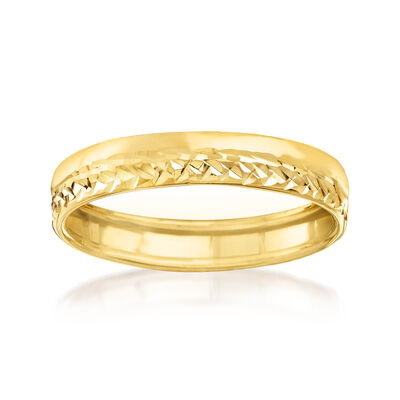 Italian 14kt Yellow Gold Ring, , default