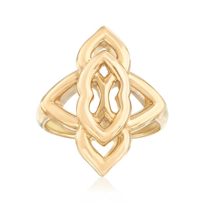 14kt Yellow Gold Four-Point Open-Space Ring, , default