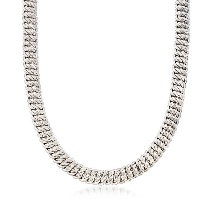 Italian Sterling Silver Americana-Link Necklace, , default