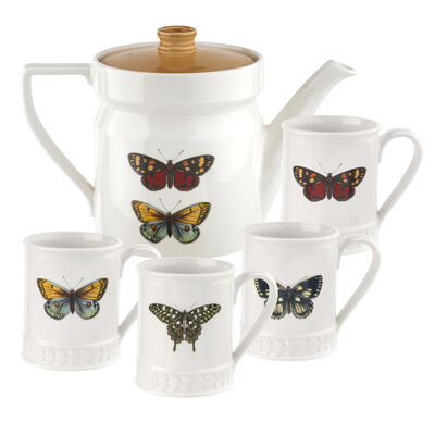 """Portmeirion """"Botanic Garden Harmony"""" Butterfly Tea Service"""