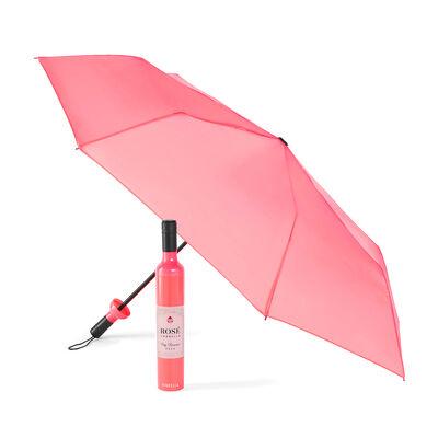 Rose Wine Bottle Pink Umbrella with Case, , default