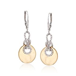 .67 ct. t.w. Diamond Knot Drop Earrings in 14kt Two-Tone Gold, , default