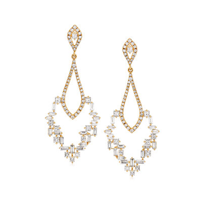 2.05 ct. t.w. Diamond Mosaic Chandelier Earrings in 18kt Yellow Gold, , default