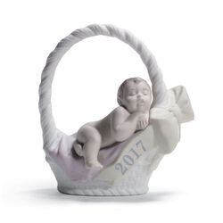"Lladro ""Born in 2017"" Porcelain Figurine - Fair Skin Girl, , default"