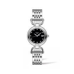 Longines Equestrian Women's 30mm Stainless Steel Watch With Diamond Accents, , default