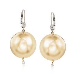 .10 ct. t.w. Diamond Ball Drop Earrings in 14kt Two-Tone Gold, , default