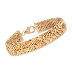 18kt Yellow Gold Triple-Row Link Bracelet, , default
