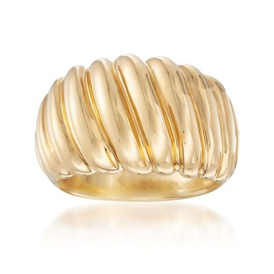 Italian Andiamo 14kt Yellow Gold Shrimp Ring, , default