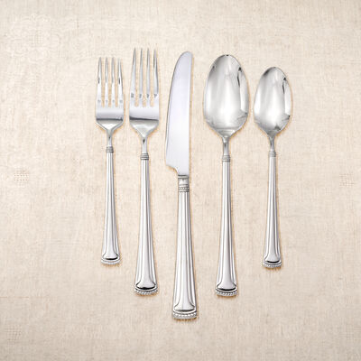 """Yamazaki 20-pc. Service for 4 """"Oyster Bay"""" Stainless Steel Flatware Set, , default"""