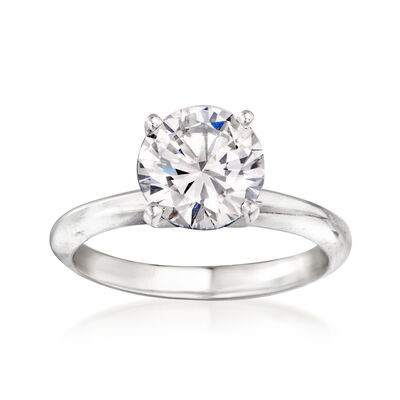 2.00 Carat Certified Diamond Engagement Ring in 14kt White Gold