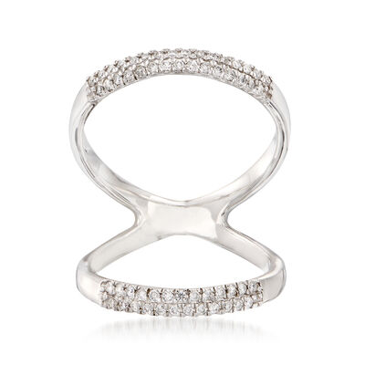 .18 ct. t.w. Diamond Open-Space Ring in 14kt White Gold
