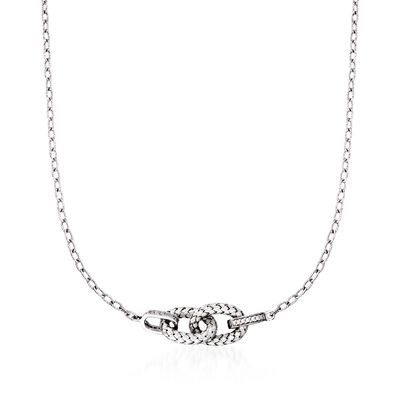 "Charles Garnier ""Violet"" .29 ct. t.w. CZ Link Necklace in Sterling Silver, , default"
