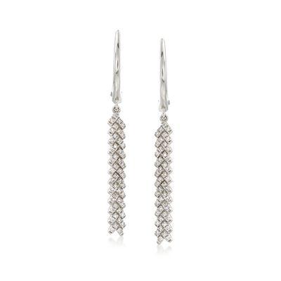 .27 ct. t.w. Diamond Chevron Drop Earrings in 14kt White Gold , , default