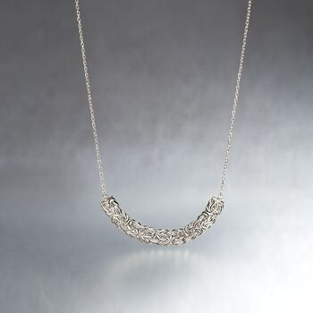 "Sterling Silver Byzantine Centerpiece Necklace. 18"", , default"