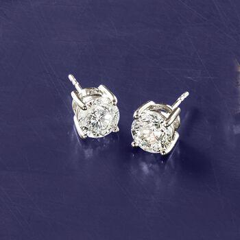 3.00 ct. t.w. Diamond Stud Earrings in 14kt White Gold, , default