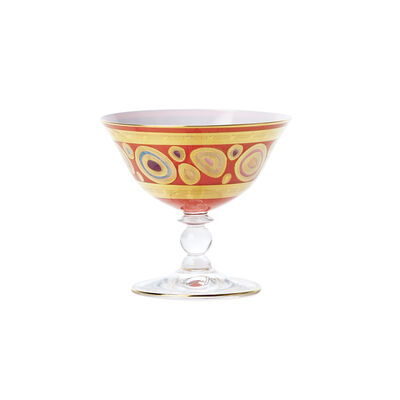 """Vietri """"Regalia"""" Orange Dessert Bowl"""