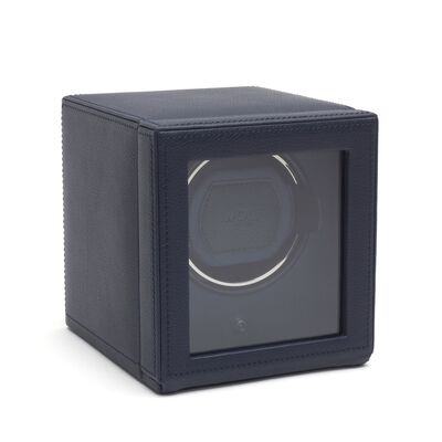 """Cub Winder"" Navy Single Watch Winder with Cover by Wolf Designs, , default"
