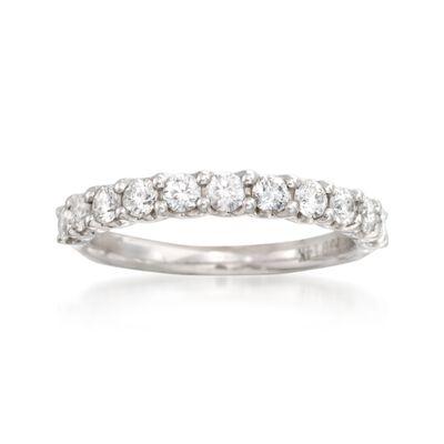 .74 ct. t.w. Diamond Wedding Ring in 14kt White Gold, , default