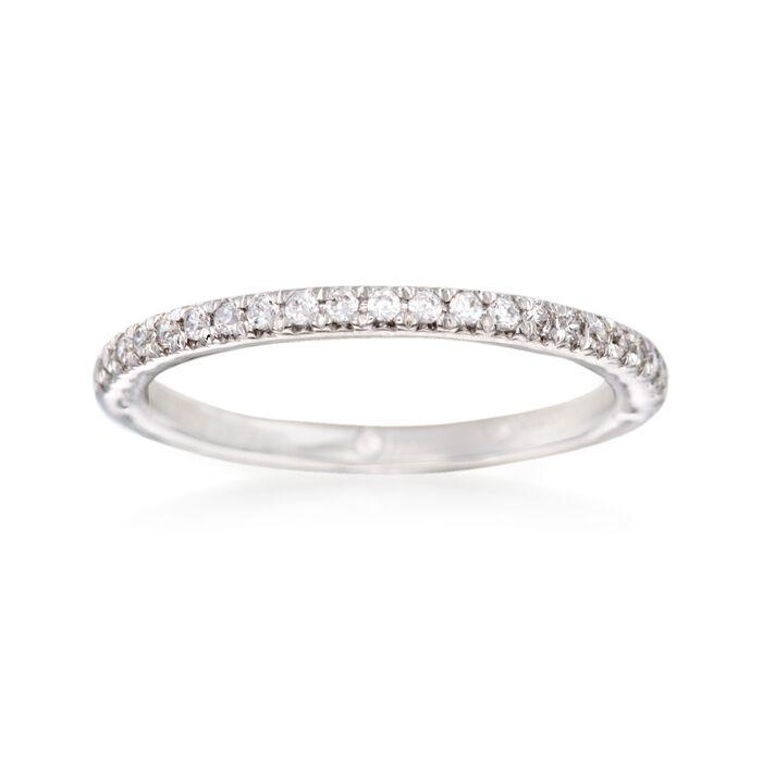 Gabriel Designs .20 ct. t.w. Diamond Wedding Ring in 14kt White Gold. Size 7