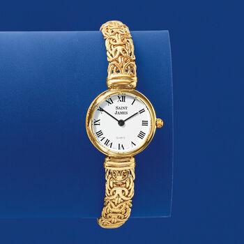 Saint James Women's 22mm 14kt Yellow Gold Byzantine Watch, , default