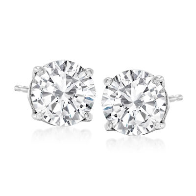 2.40 ct. t.w. Diamond Stud Earrings in 14kt White Gold
