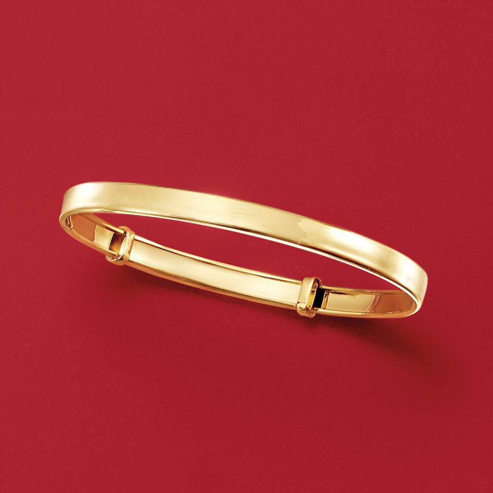 5b11bdbd58c3f Child's 14kt Yellow Gold Adjustable Bangle Bracelet. 5