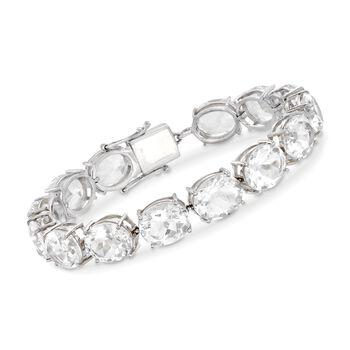 55.00 ct. t.w. Rock Crystal Quartz Bracelet in Sterling Silver, , default