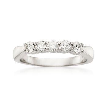 .50 ct. t.w. 5-Stone Diamond Wedding Ring in 14kt White Gold, , default