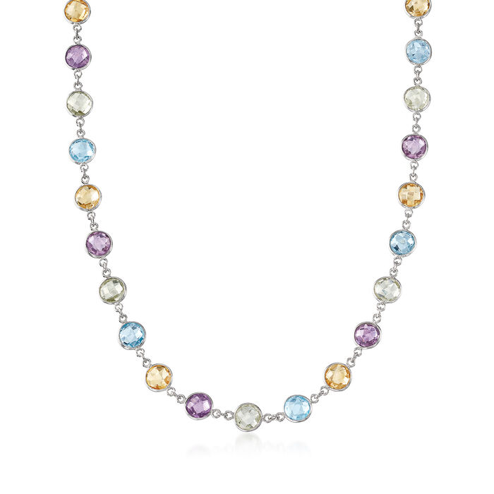 48.00 ct. t.w. Multi-Stone Necklace in Sterling Silver, , default