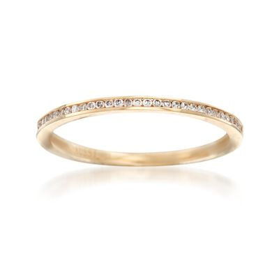 Henri Daussi .10 ct. t.w. Diamond Wedding Ring in 14kt Yellow Gold, , default