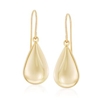 14kt Yellow Gold Teardrop Earrings, , default