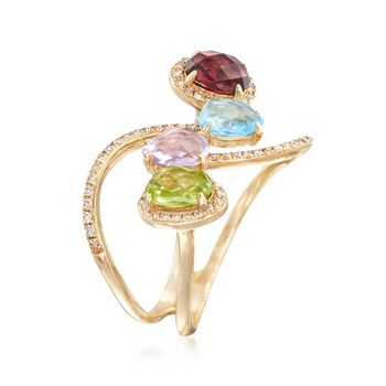2.53 ct. t.w. Multi-Stone Ring in 14kt Yellow Gold, , default