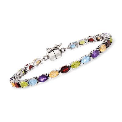 10.40 ct. t.w. Multi-Gemstone Bracelet in Sterling Silver, , default