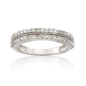 .50 ct. t.w. Diamond Double Row Ring in Sterling Silver, , default