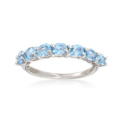 1.30 ct. t.w. Blue Topaz Ring in Sterling Silver, , default