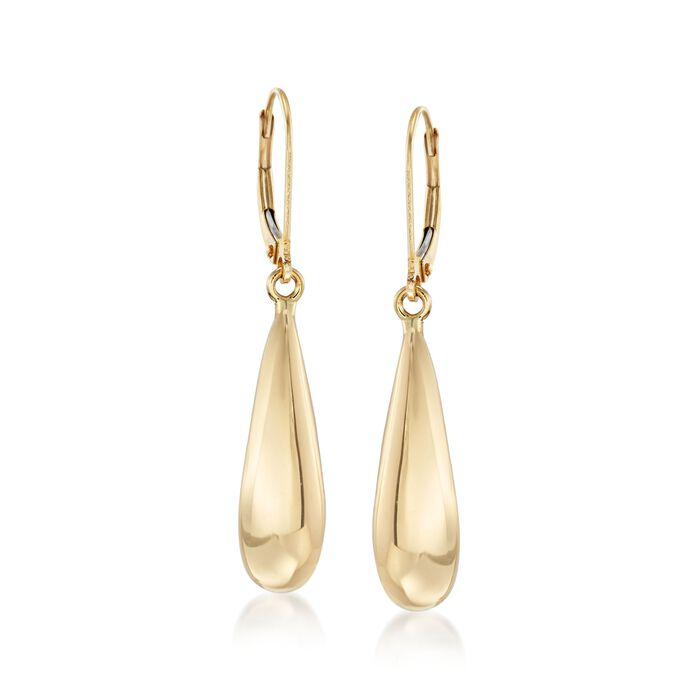 Italian 18kt Yellow Gold Teardrop Earrings, , default