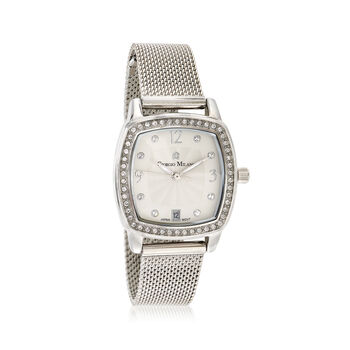 Giorgio Milano Women's .25 ct. t.w. CZ Watch in Stainless Steel, , default