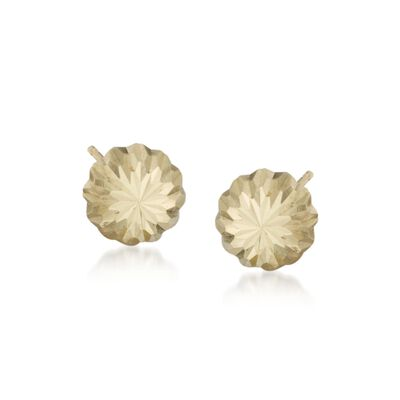Child's 14kt Yellow Gold Stud Earrings, , default