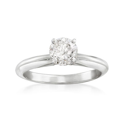 .52 Carat Certified Diamond Solitaire Engagement Ring in 14kt White Gold