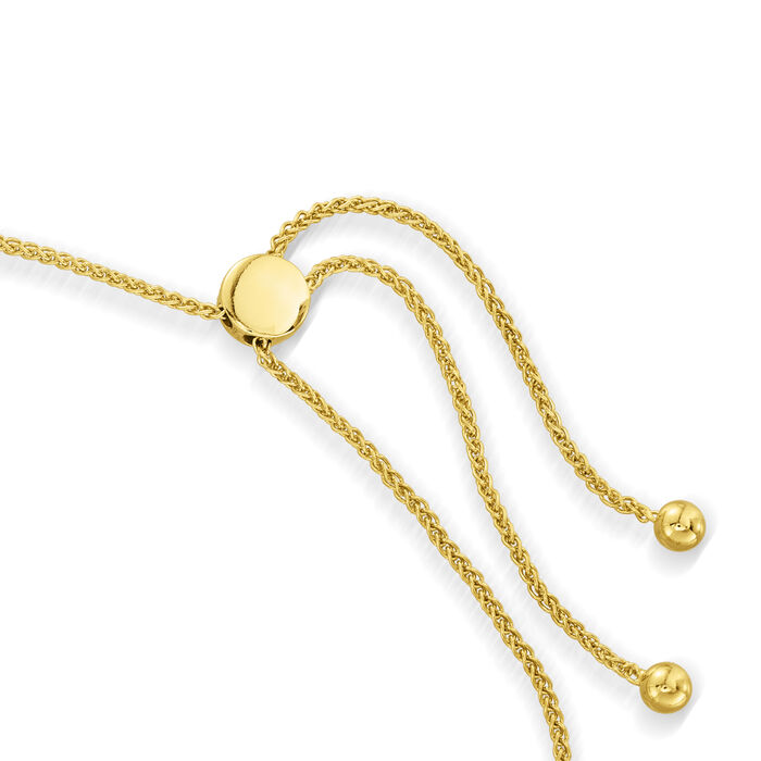 .25 ct. t.w. Black and White Diamond Sunflower Bolo Bracelet in 18kt Gold Over Sterling