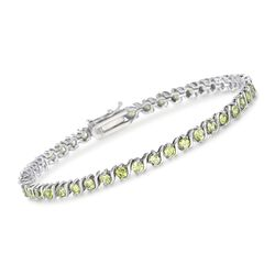 4.40 ct. t.w. Peridot Tennis Bracelet in Sterling Silver, , default