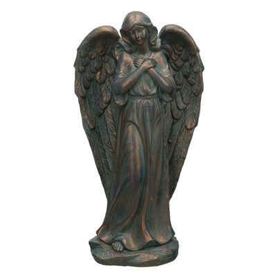 Regal Patina Angel Outdoor Statue, , default
