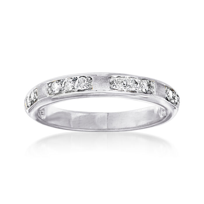 .23 ct. t.w. Diamond Station Ring in 14kt White Gold